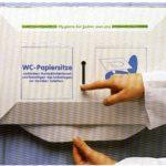 WC-Auflagen Spender mit Einzelentnahme, Kunststoff, schützt die Auflagen vor Verschmutzung.